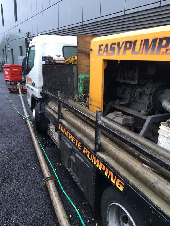 Concrete Pump Hire Truck by Easy Pumps