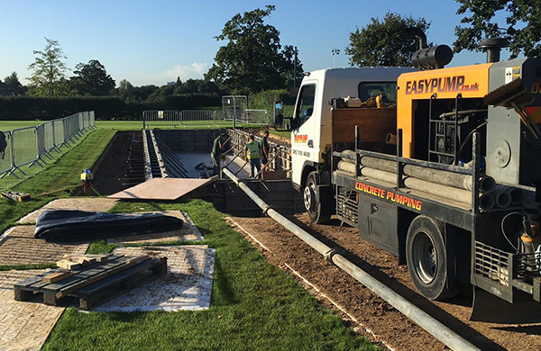 Concrete Pumping Service Milton Keynes by Easy Pump
